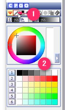 カラーパネルで色を選ぶ